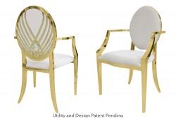 Crystal Swan Armchair (Gold)