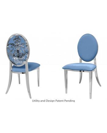 Dior Chair (Silver-Blue)