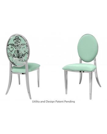 Dior Chair (Silver-Mint)