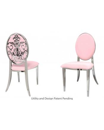 Dior Chair (Silver-Pink)
