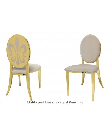 Fleur-de-lis Chair (Gold-Champagne)