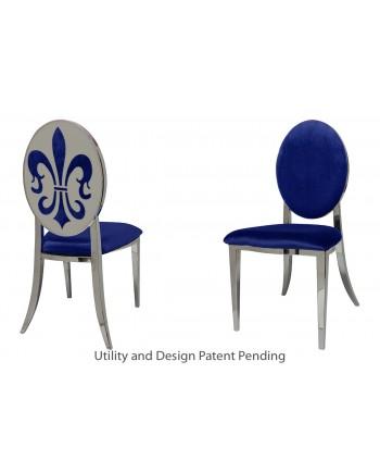 Fleur-de-lis Chair (Silver-Royal)