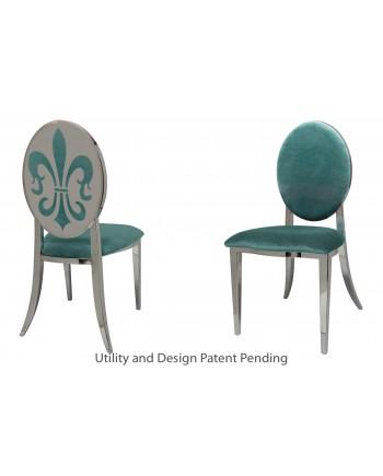 Fleur-de-lis Chair (Silver-Tiffany)