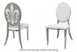 Fleur-de-lis Chair (Silver)