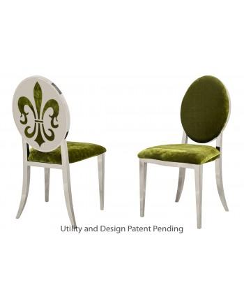 Fleur-de-lis Chair (Silver-Moss)