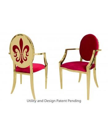 Fleur-de-lis Armchair (Gold-Red)