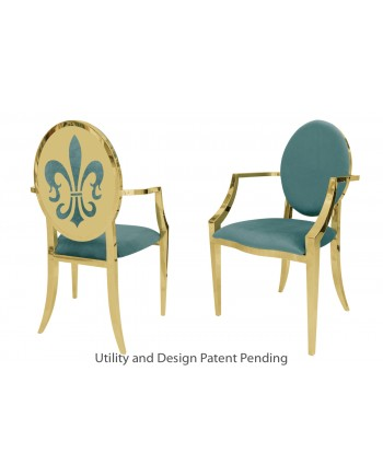 Fleur-de-lis Armchair (Gold-Tiffany)