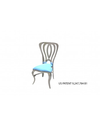 Halexander Chair Silver (Turquoise)