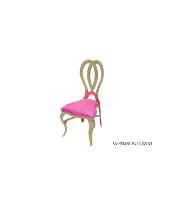 Halexandria Chair (Gold-Hotpink)