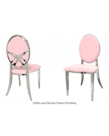 Lasso Chair (Silver-Pink)