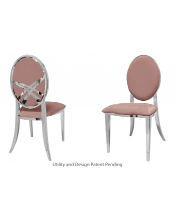 Lasso Chair (Silver-Rose Gold)