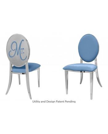 Mr. Chair (Silver-Blue)