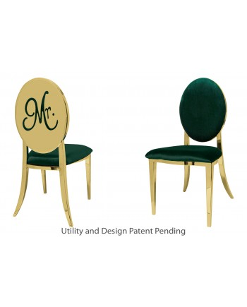 Mr. Chair (Gold-Emerald)