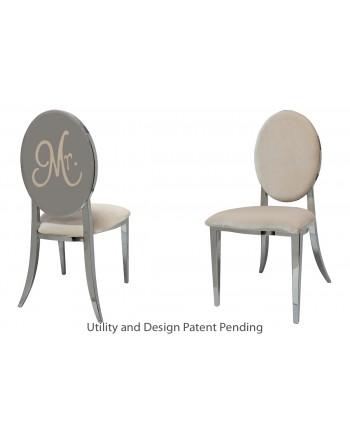 Mr. Chair (Silver-Champagne)