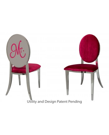 Mr. Chair (Silver-Red)