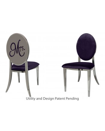 Mrs. Chair (Silver-Eggplant)
