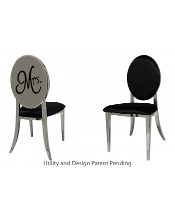 Mrs. Chair (Silver-Black)