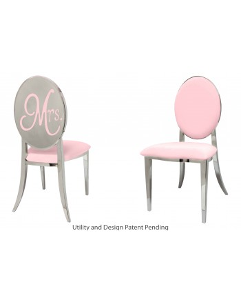 Mrs. Chair (Silver-Pink)