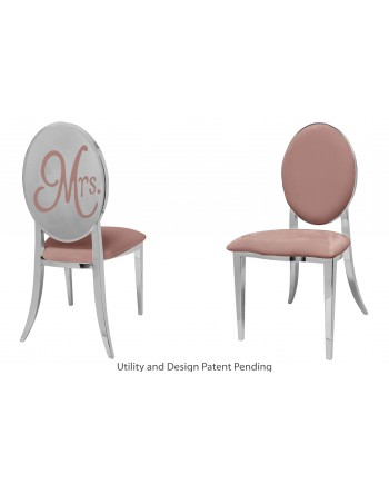 Mrs. Chair (Silver-Rose Gold)