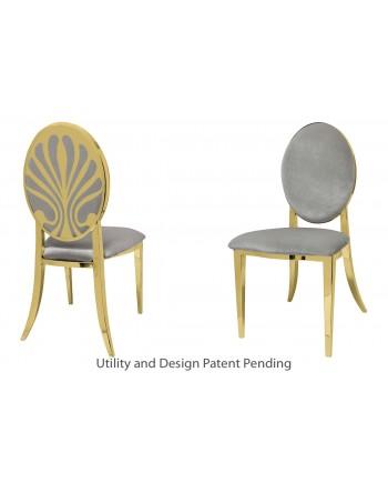 Nouveau Shell Chair (Gold-Silver)
