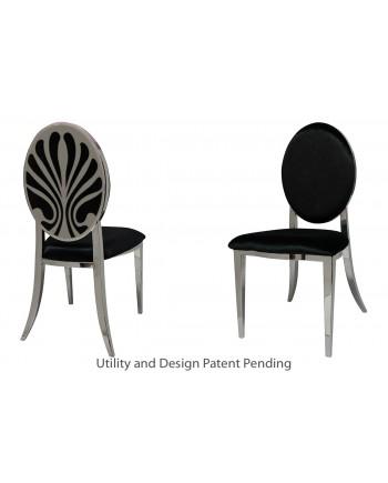 Nouveau Shell Chair (Silver-Black)