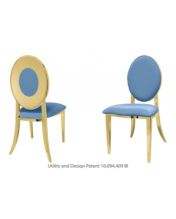 Oz Plus Chair (Gold-Blue)