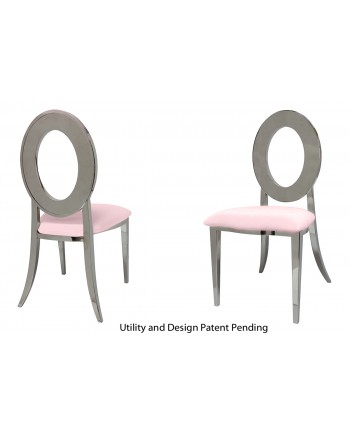 Oz Chair (Silver-Pink)