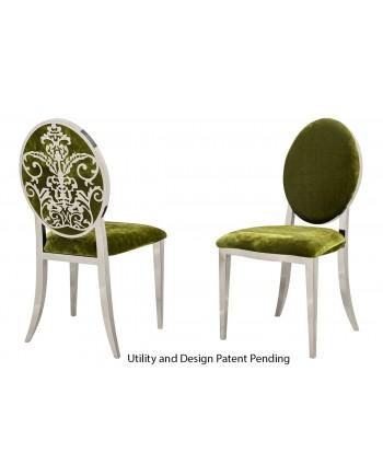 Dior Chair (Silver-Moss)