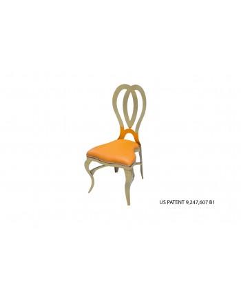 Halexandria Chair (Gold-Orange)