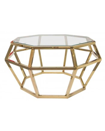 "Reflection Coffee Table Gem (Gold) 36""D x 18""H"