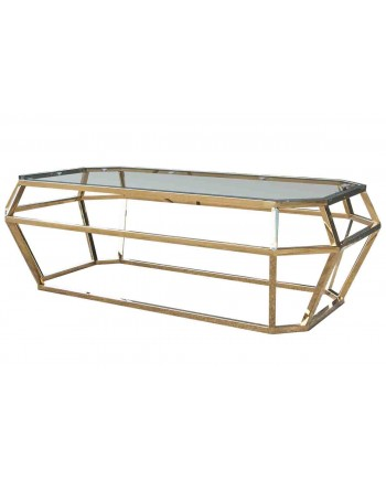"Reflection Coffee Table Gem (Gold) 48""L x 24""W x 18""H"