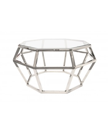 "Reflection Coffee Table Gem (Silver) 36"" D x 18""H"
