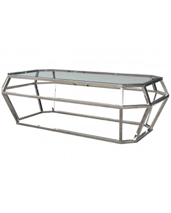 "Reflection Coffee Table Gem (Silver) 48""L x 24""W x 18""H"