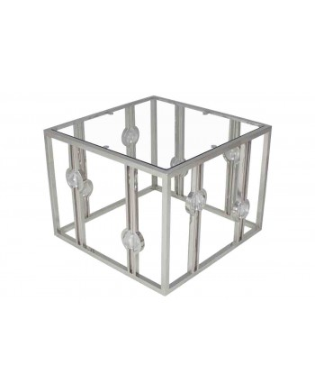 Reflection Coffee Table Glam (Square) (Silver)
