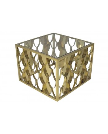 Reflection Coffee Table Scallop (Square) (Gold)