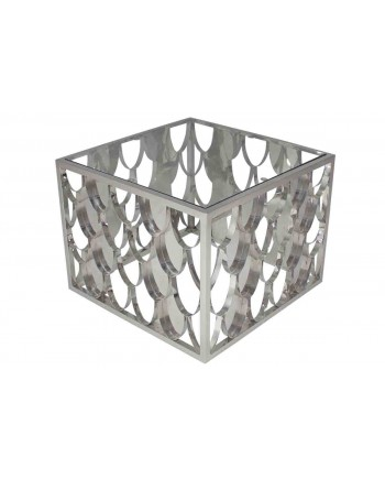 Reflection Coffee Table Scallop (Square) (Silver)