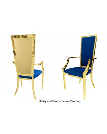 Reflection Armchair Rectangular (Gold-Royal)