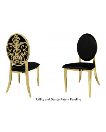 Dior Chair (Gold-Black)