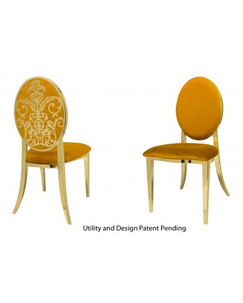 Dior Chair (Gold-Yellow)