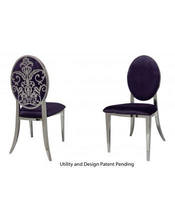 Dior Chair (Silver-Eggplant)