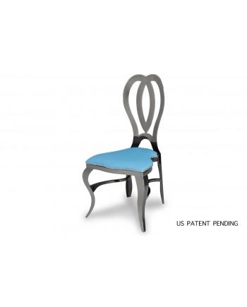 Halexandria Chair (Gun Metal-Turquoise)