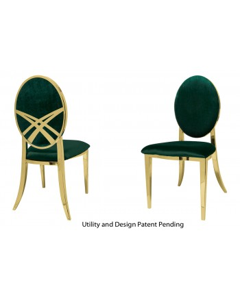 Lasso Chair (Gold-Emerald)