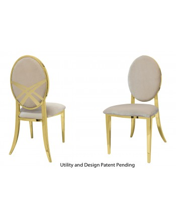 Lasso Chair (Gold-Champagne)