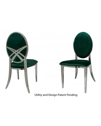Lasso Chair (Silver-Emerald)