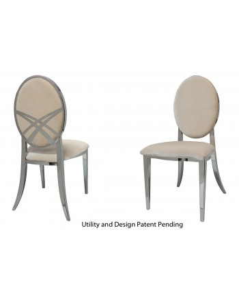 Lasso Chair (Silver-Champagne)