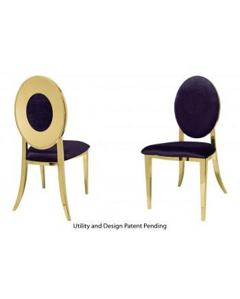 Oz Plus Chair (Gold-Eggplant)