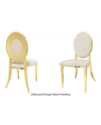 Oz Plus Chair (Gold-Champagne)