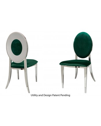Oz Plus Chair (Silver-Emerald)