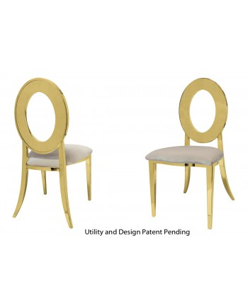 Oz Chair (Gold-Champagne)