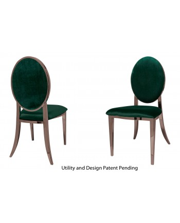 Tiffany Chair (Rose Gold-Emerald)